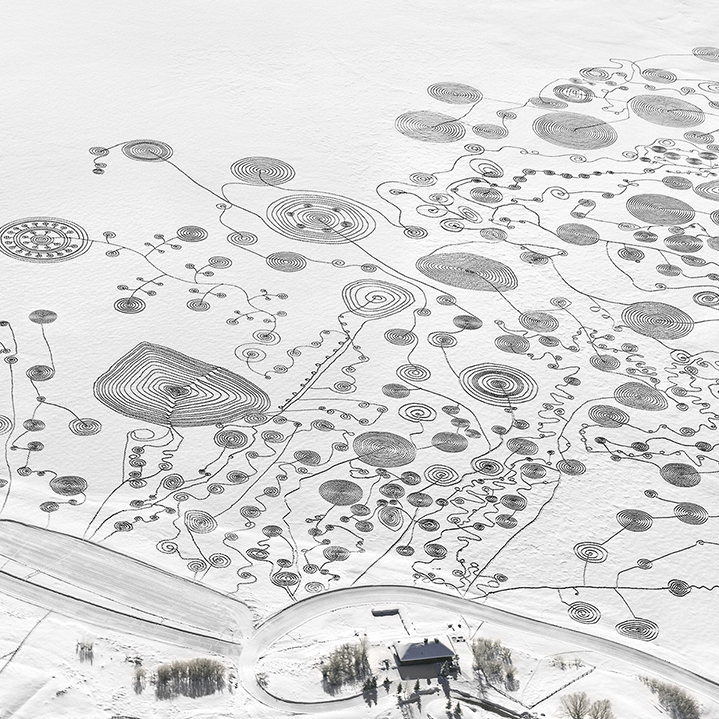 Sonja Hinrichsen Snow Drawing Project